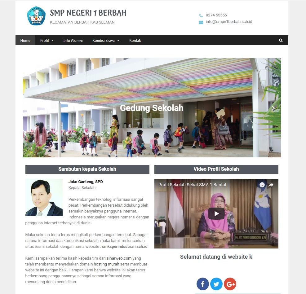 Web Sekolah Gratis Lebih Bagus Dari Cms Balitbang